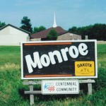 Monroe town Sign rotated